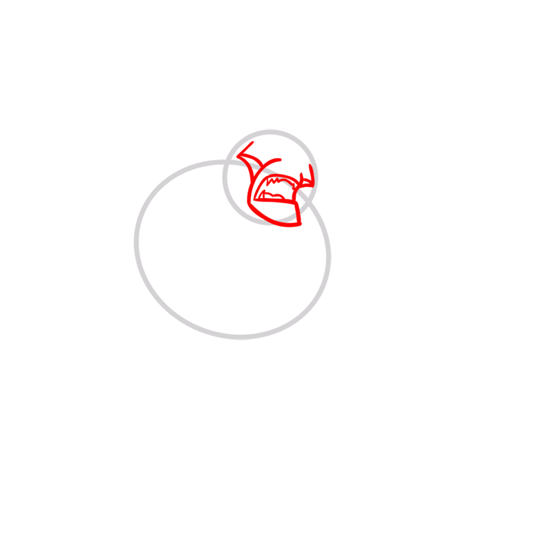 Learn easy to draw rath step 02