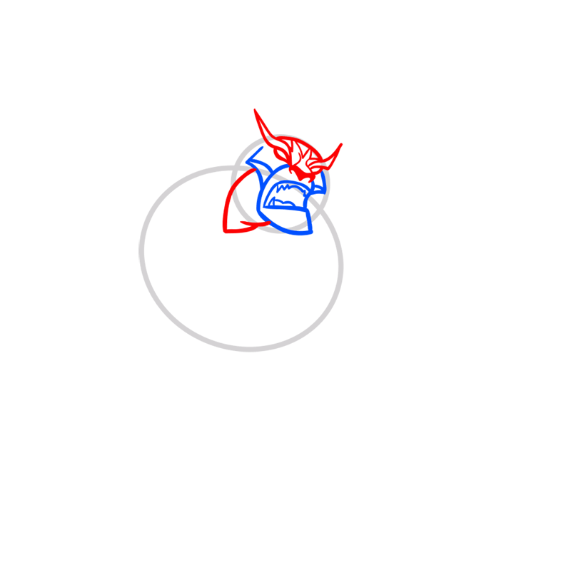 Learn easy to draw rath step 03
