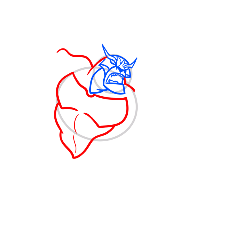 Learn easy to draw rath step 04