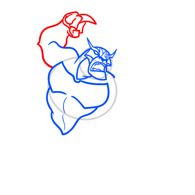 Learn easy to draw rath step 05