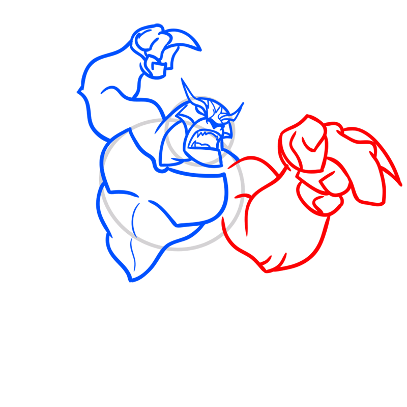 Learn easy to draw rath step 06