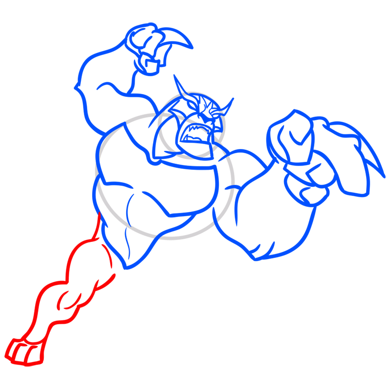 Learn easy to draw rath step 07