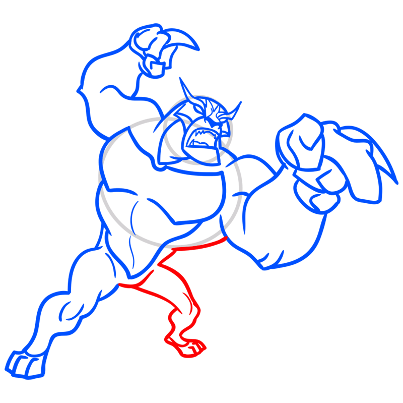 Learn easy to draw rath step 08