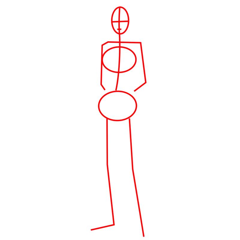Learn easy to draw sasha braus step 01