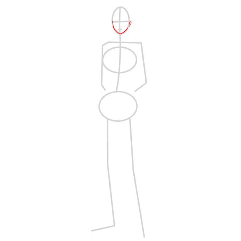 Learn easy to draw sasha braus step 02