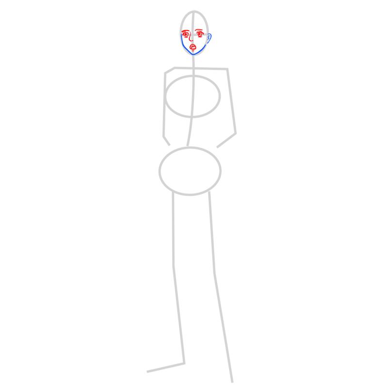 Learn easy to draw sasha braus step 03