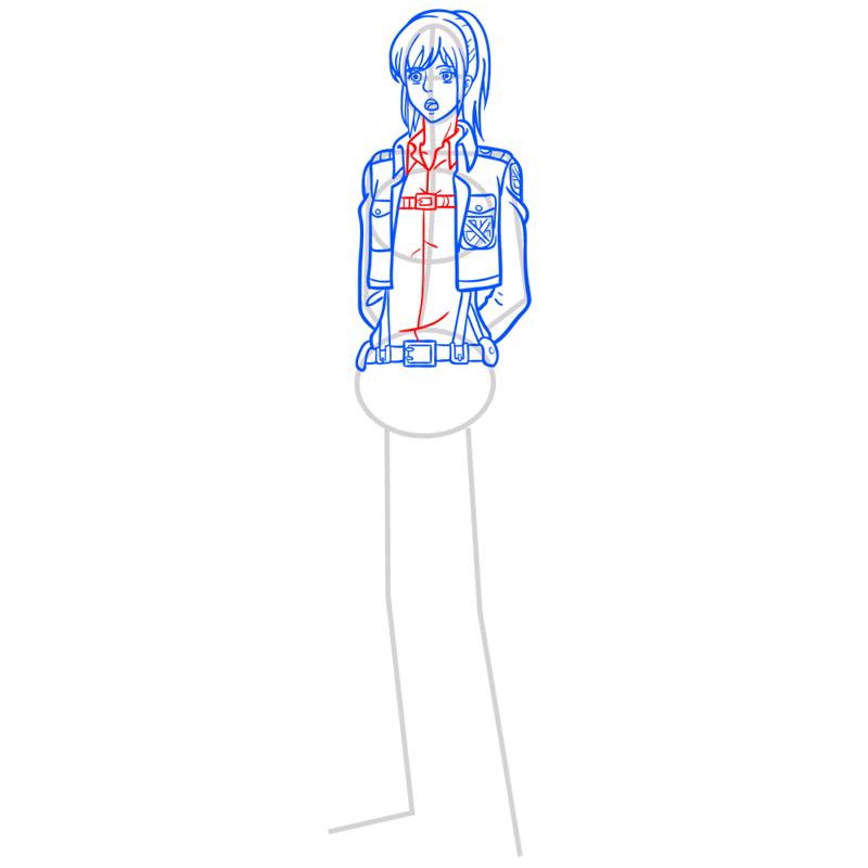 Learn easy to draw sasha braus step 08