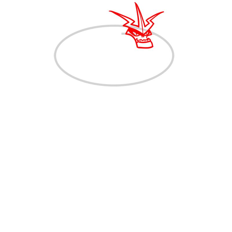 Learn easy to draw shockquatch step 02