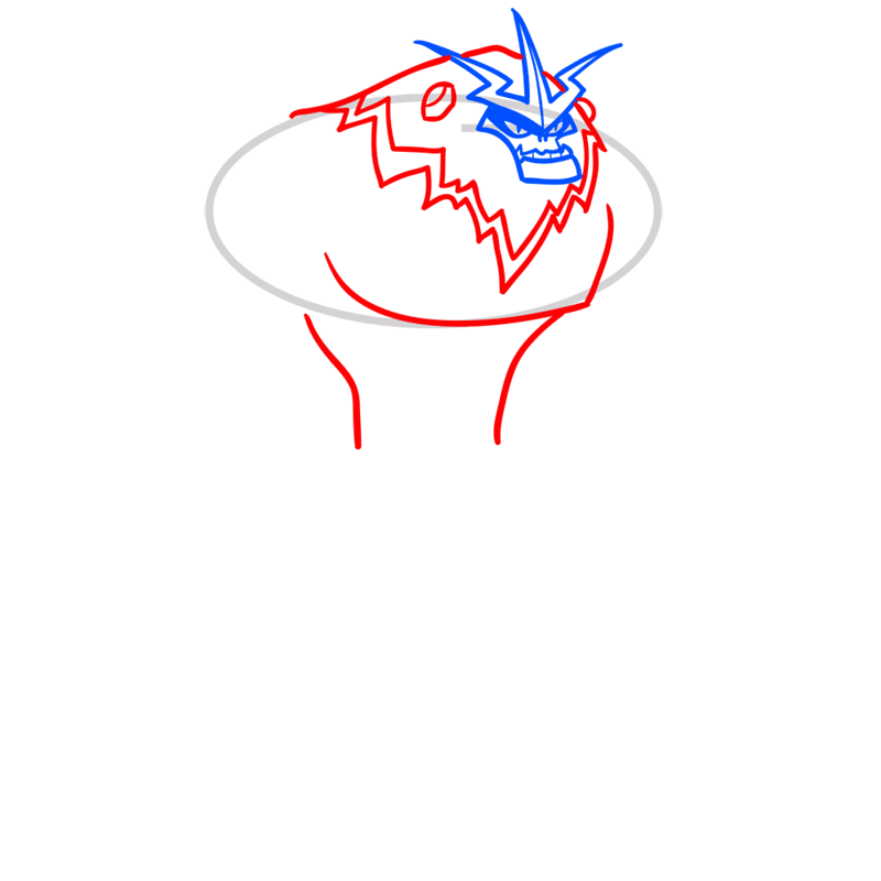 Learn easy to draw shockquatch step 03