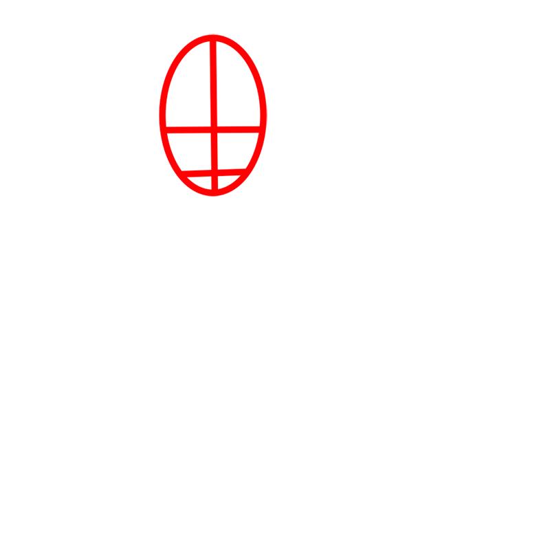 Learn easy to draw sokka step 01