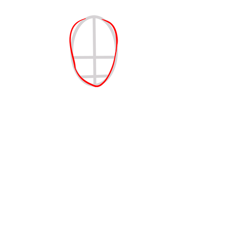 Learn easy to draw sokka step 02
