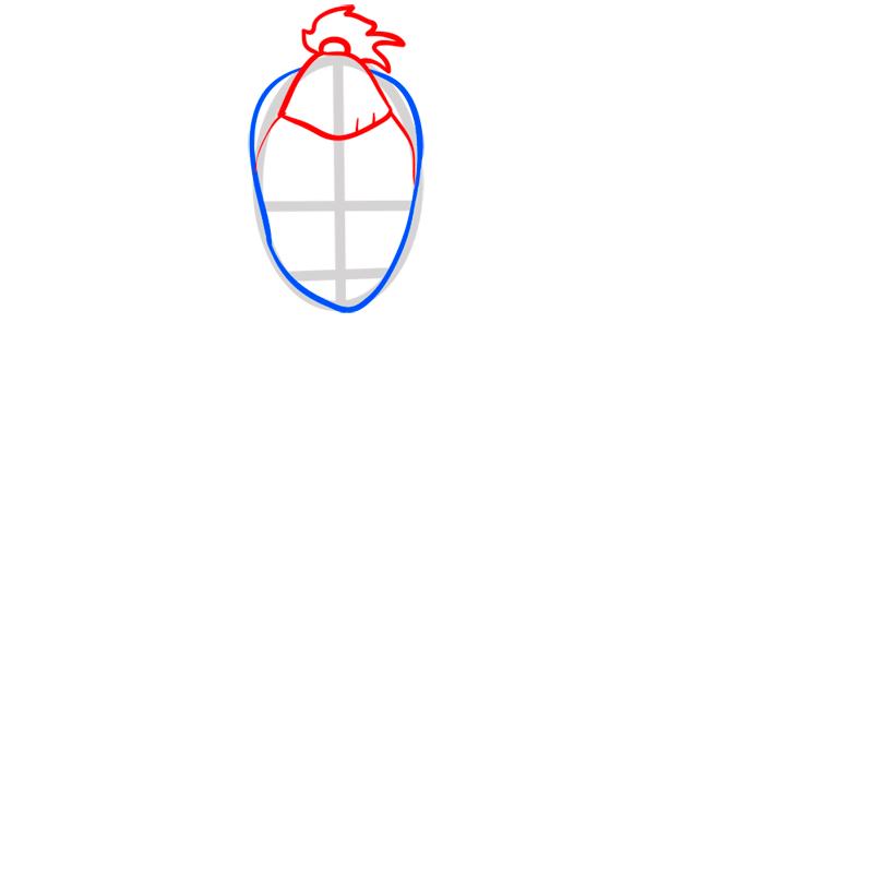 Learn easy to draw sokka step 03