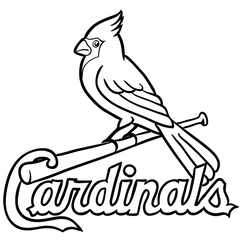 Learn easy to draw st. louis cardinals logo step 13