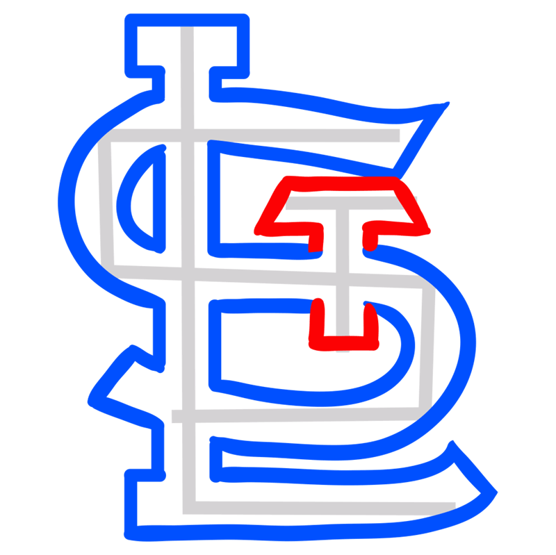 Learn easy to draw st. louis cardinals step 05