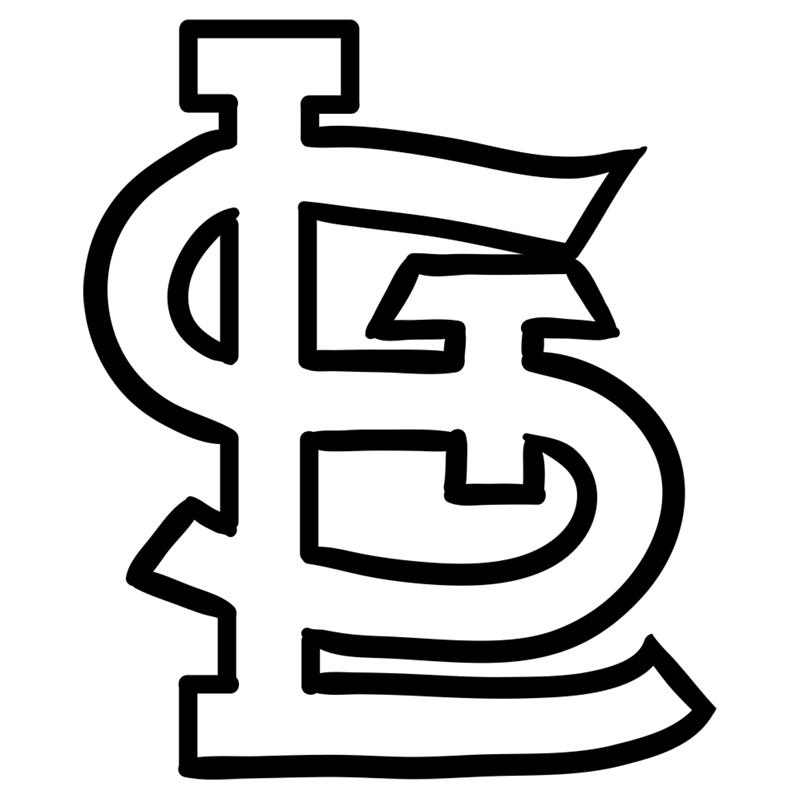 Learn easy to draw st. louis cardinals step 06