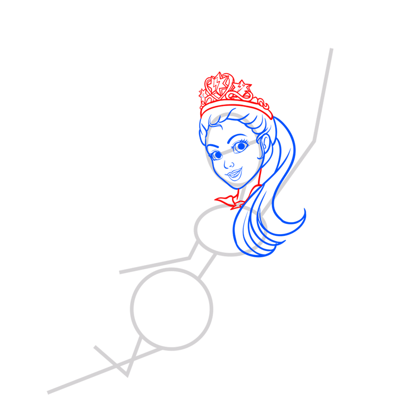 Learn easy to draw super sparkle step 05