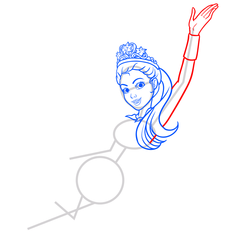 Learn easy to draw super sparkle step 06