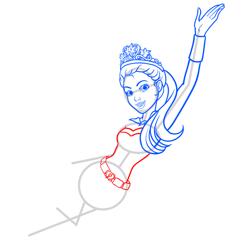 Learn easy to draw super sparkle step 07