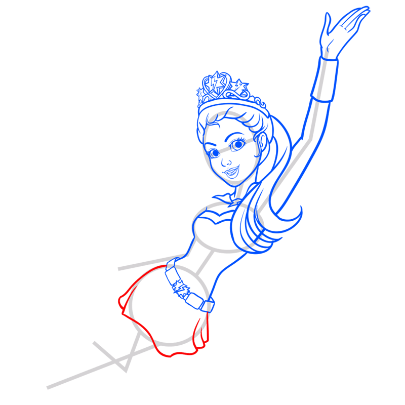 Learn easy to draw super sparkle step 08