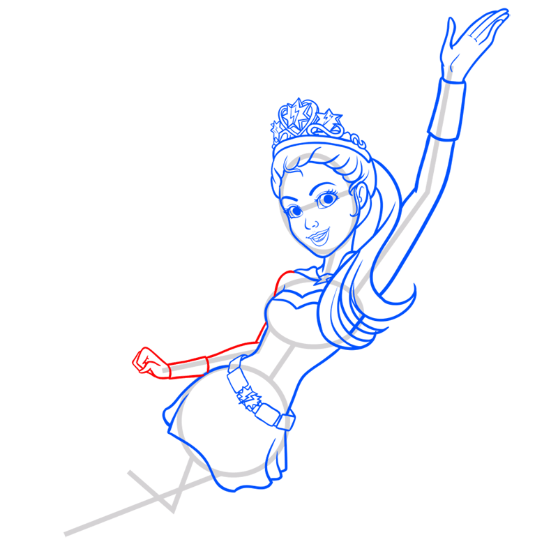 Learn easy to draw super sparkle step 09