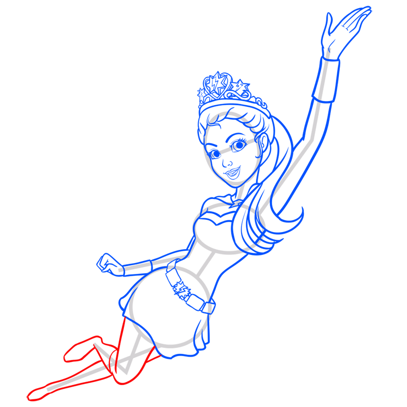 Learn easy to draw super sparkle step 10
