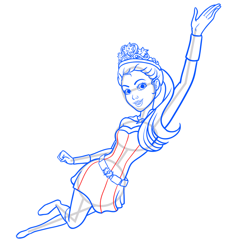 Learn easy to draw super sparkle step 11