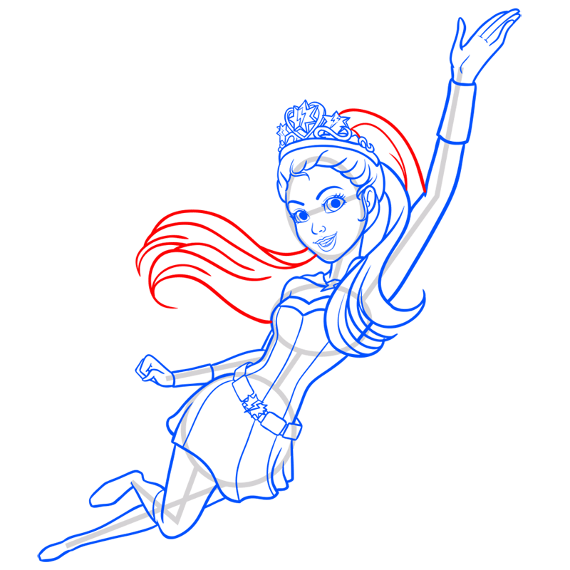 Learn easy to draw super sparkle step 12