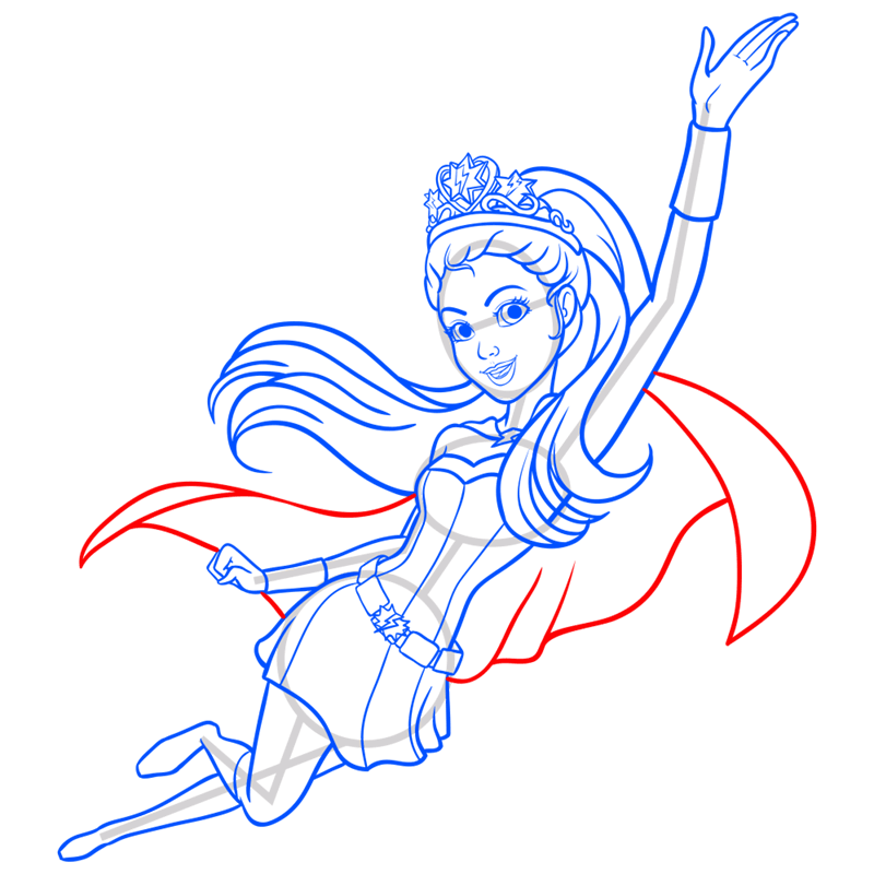 Learn easy to draw super sparkle step 13