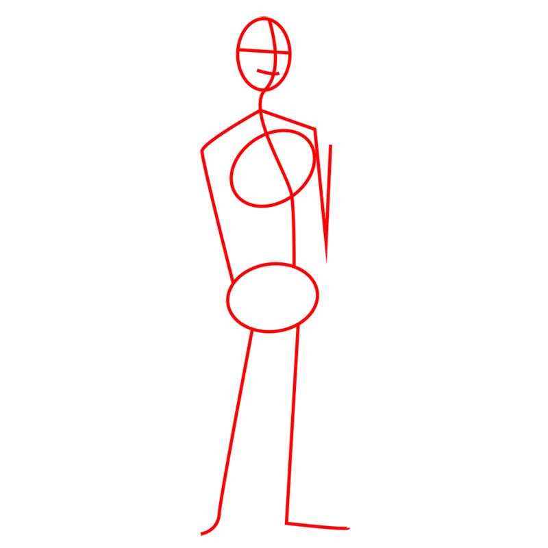 Learn easy to draw tadashi step 01
