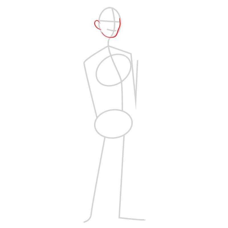 Learn easy to draw tadashi step 02