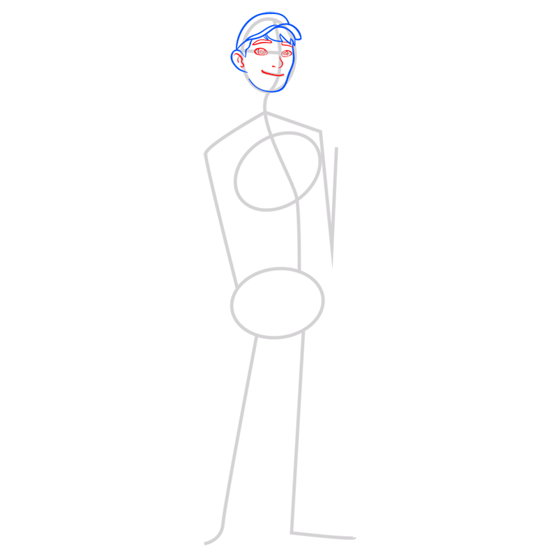 Learn easy to draw tadashi step 04