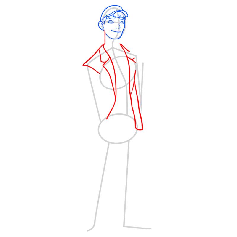 Learn easy to draw tadashi step 05