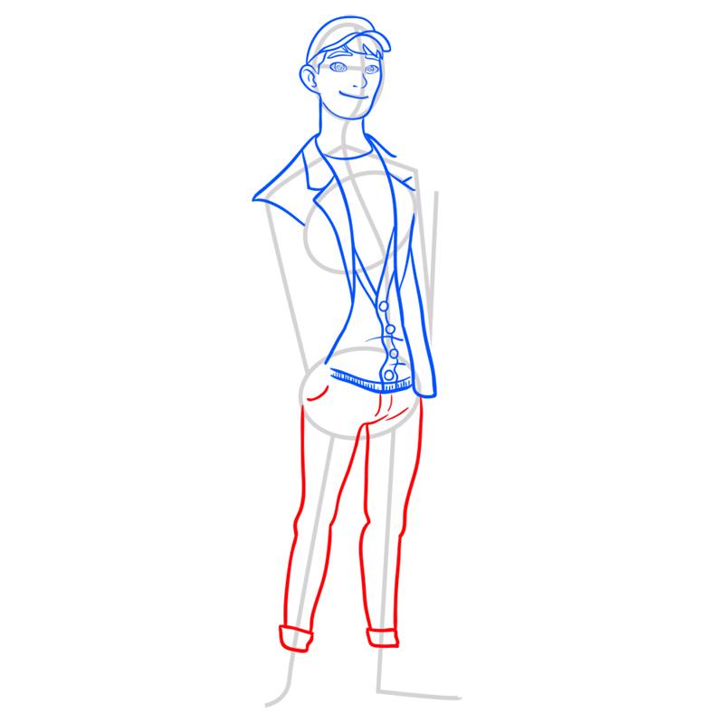 Learn easy to draw tadashi step 07