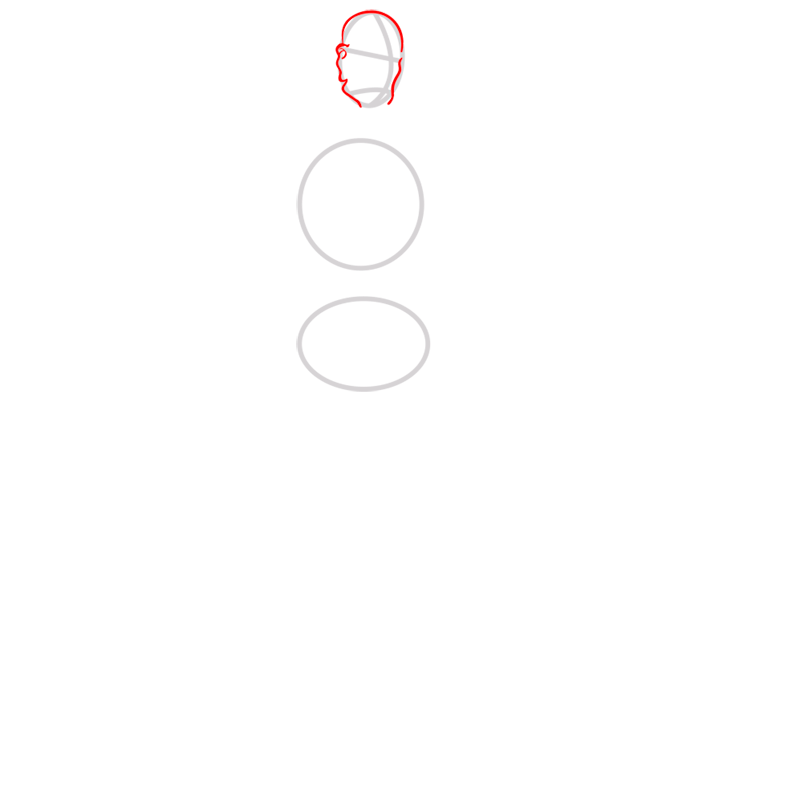 Learn easy to draw tenzin step 02