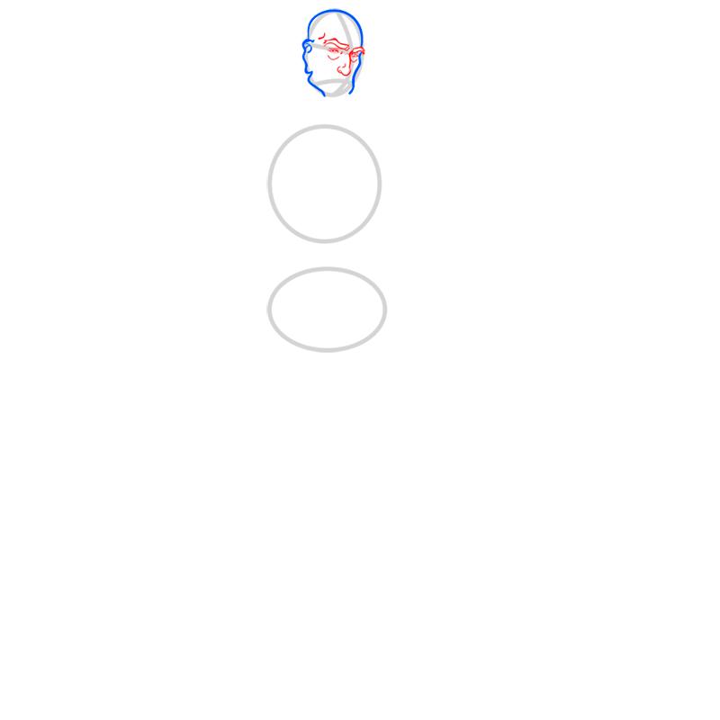 Learn easy to draw tenzin step 03