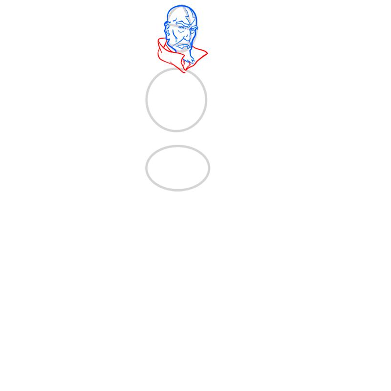 Learn easy to draw tenzin step 05