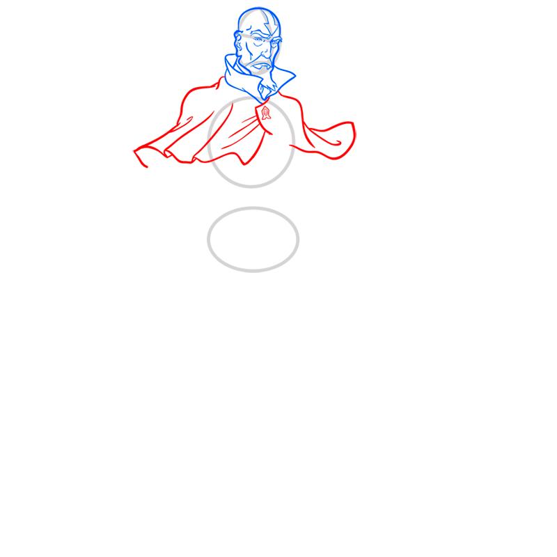 Learn easy to draw tenzin step 06