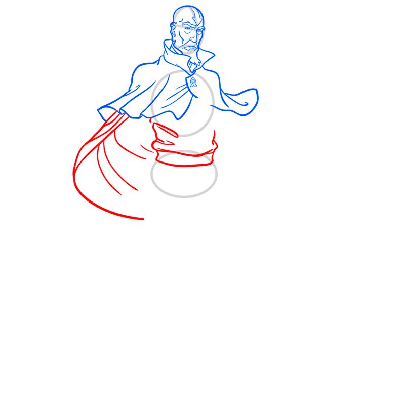 Learn easy to draw tenzin step 07
