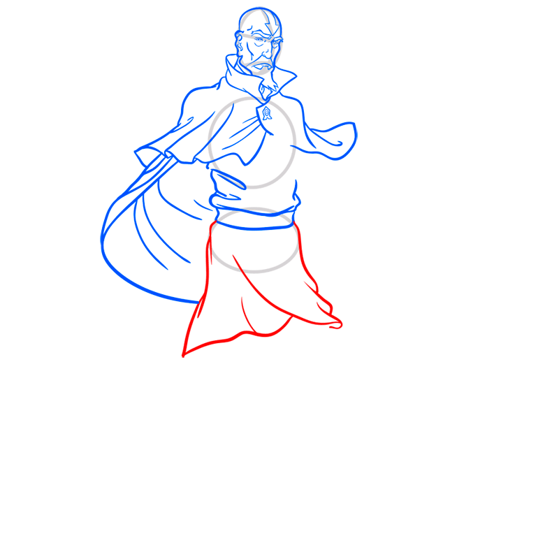 Learn easy to draw tenzin step 08