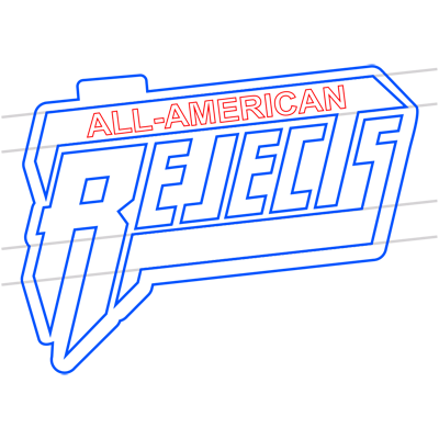 Learn easy to draw the all american rejects step 14