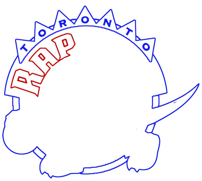 Learn easy to draw toronto raptors step 07