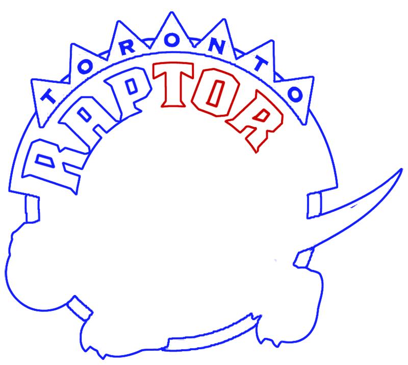 Learn easy to draw toronto raptors step 08
