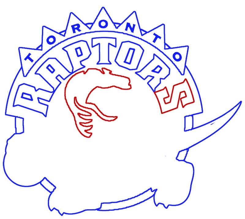Learn easy to draw toronto raptors step 09