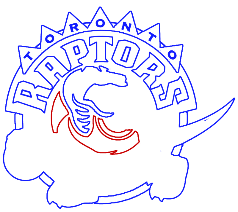 Learn easy to draw toronto raptors step 10
