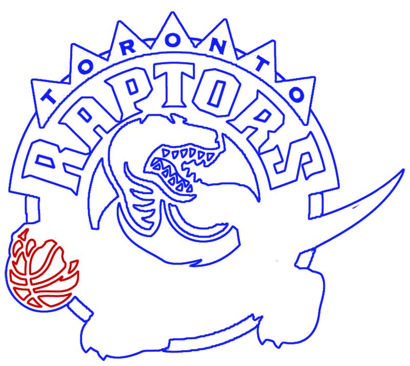 Learn easy to draw toronto raptors step 12