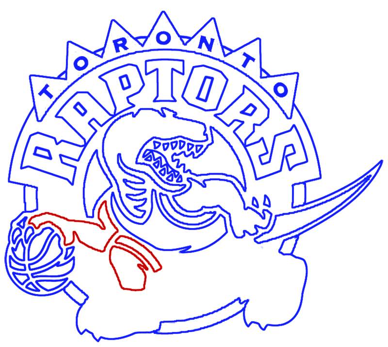 Learn easy to draw toronto raptors step 14