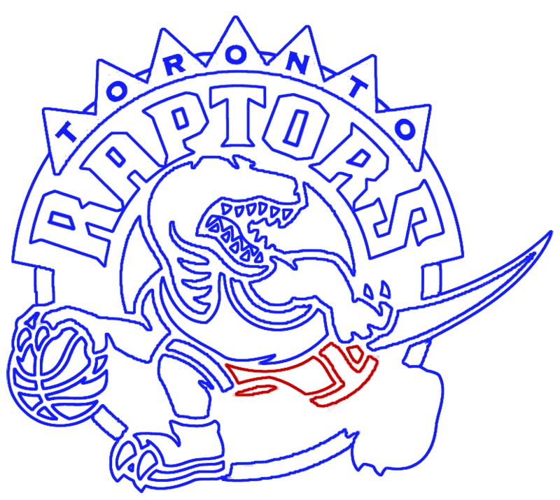 Learn easy to draw toronto raptors step 16