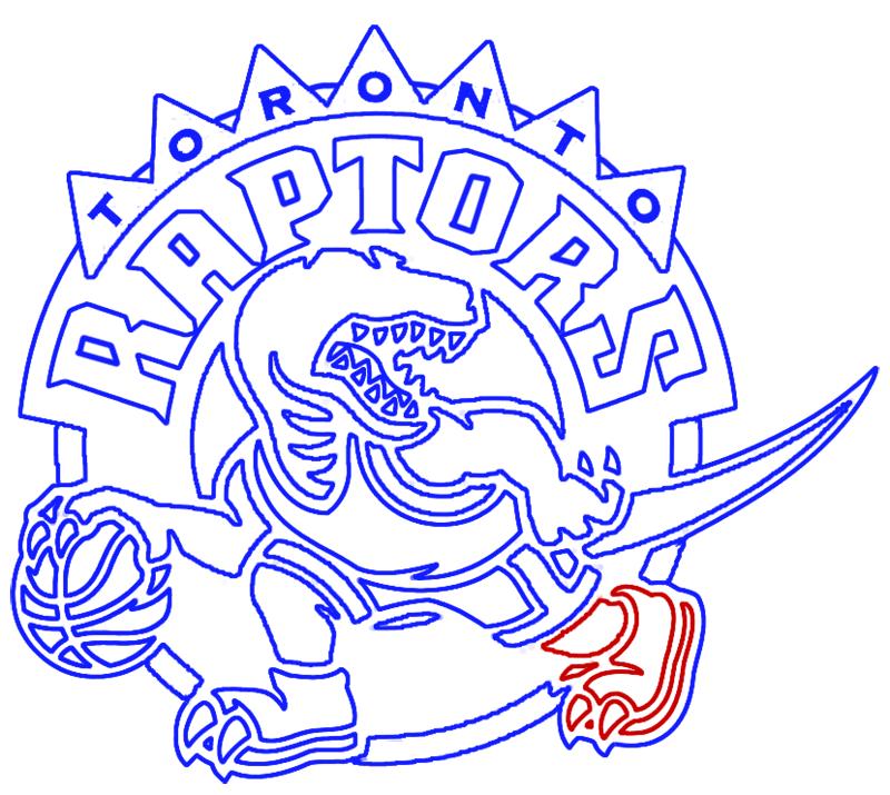 Learn easy to draw toronto raptors step 17