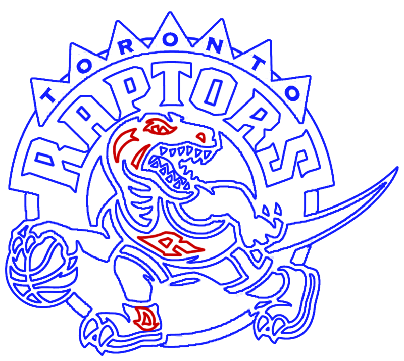 Learn easy to draw toronto raptors step 18