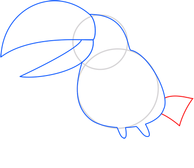 Learn easy to draw toucan step 04